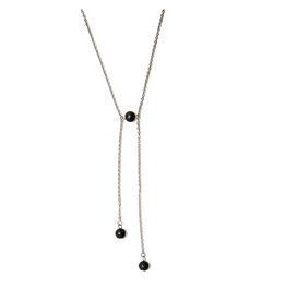 Black Lava Edgy Necklace Stainless Steel Necklace