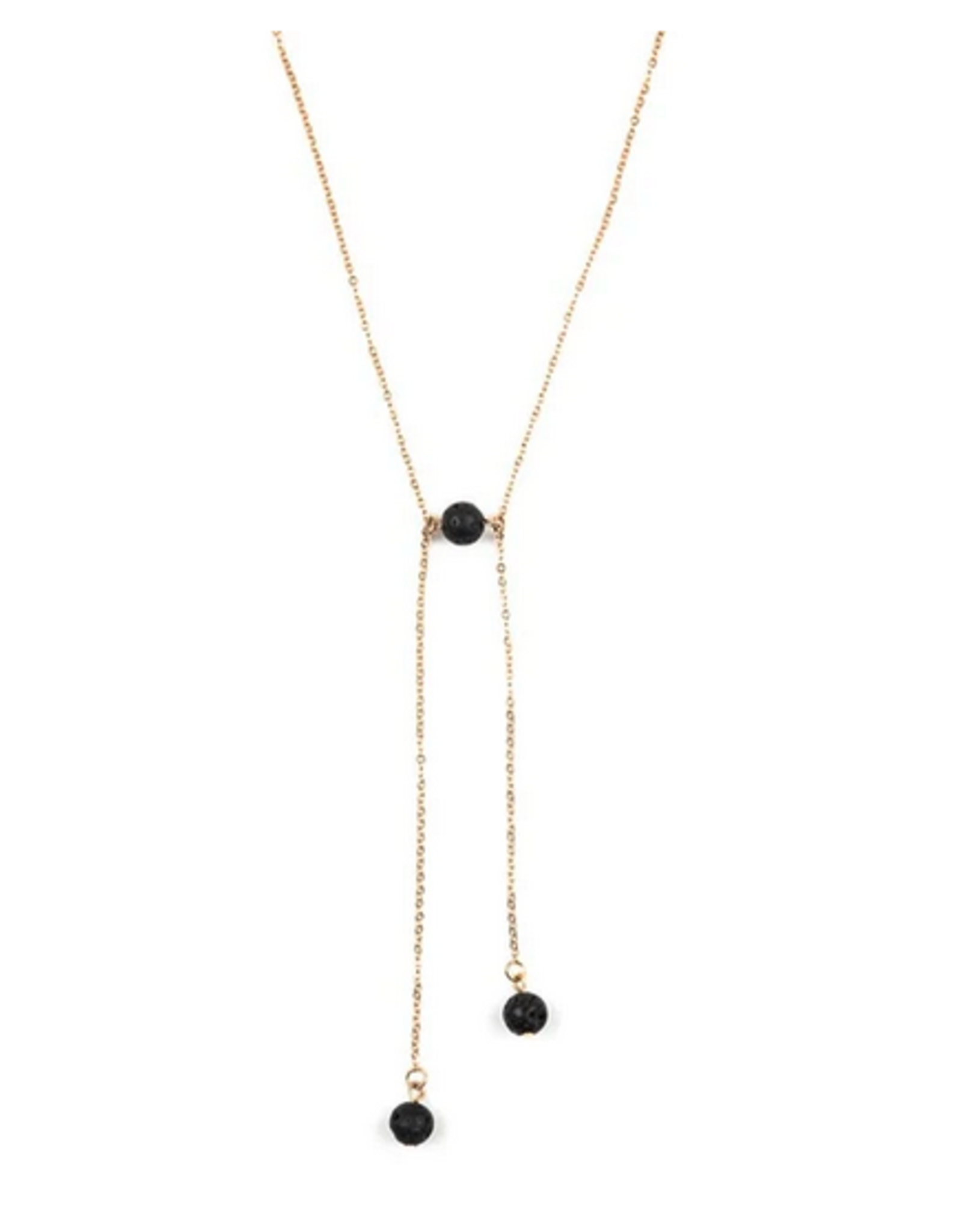 Black Lava Edgy Gold Coloured Chain Necklace