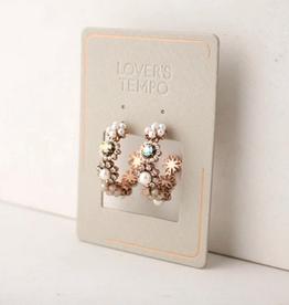 Bloom Crystal Hoop Earrings - White