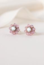 Forget Me Not Stud Earrings - Pink