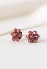 Posy Stud Earrings - Lilac