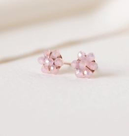 Posy Stud Earrings - Pink