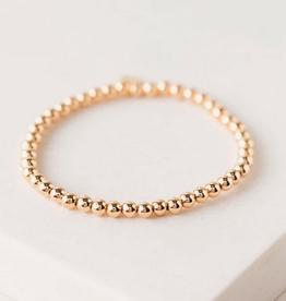 Golden Hour Medium Stretch Bracelet - Gold 3mm Beads