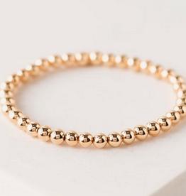 Golden Hour Large Stretch Bracelet - Gold 4mm Beads