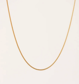 Box Chain Necklace- Gold