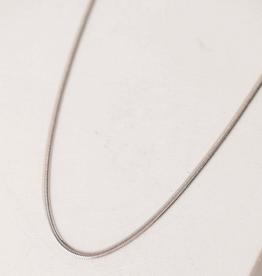 Herringbone Chain Necklace - Silver