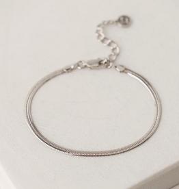 Herringbone Chain Bracelet - Silver