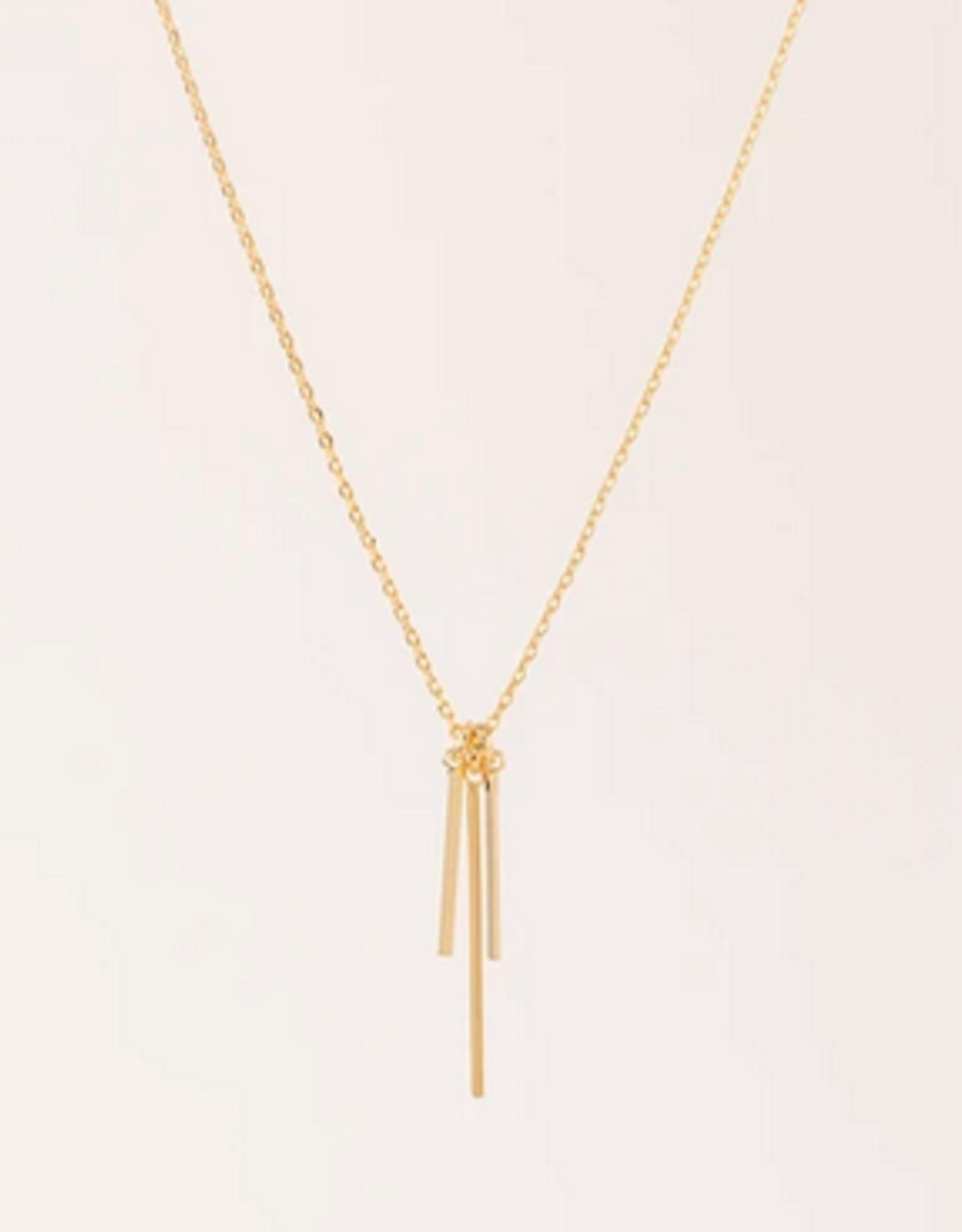 Judd Triple Bar Necklace - Gold