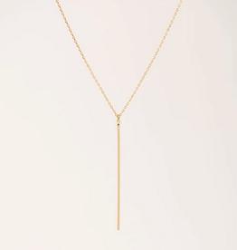 Agnes Bar Necklace - Gold