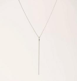 Agnes Bar Necklace - Silver