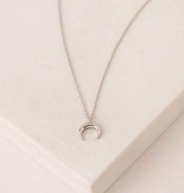 Toro Horn Necklace - Silver