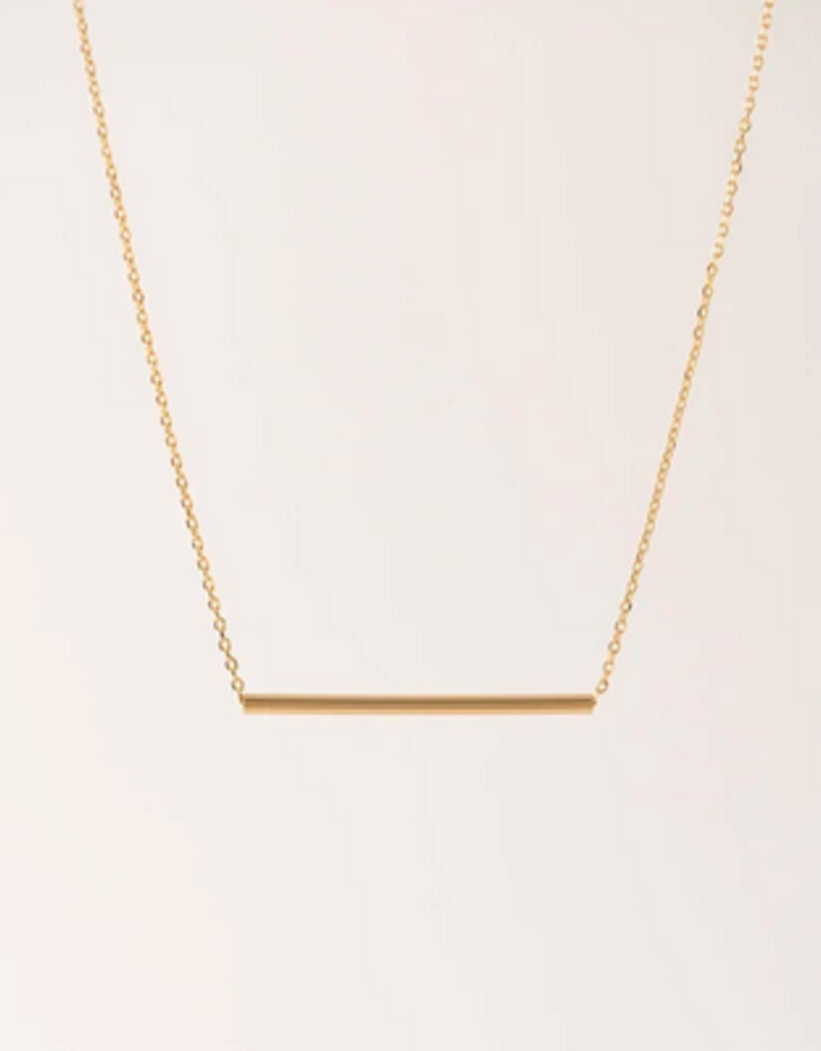 Serra Pipe Necklace - Gold