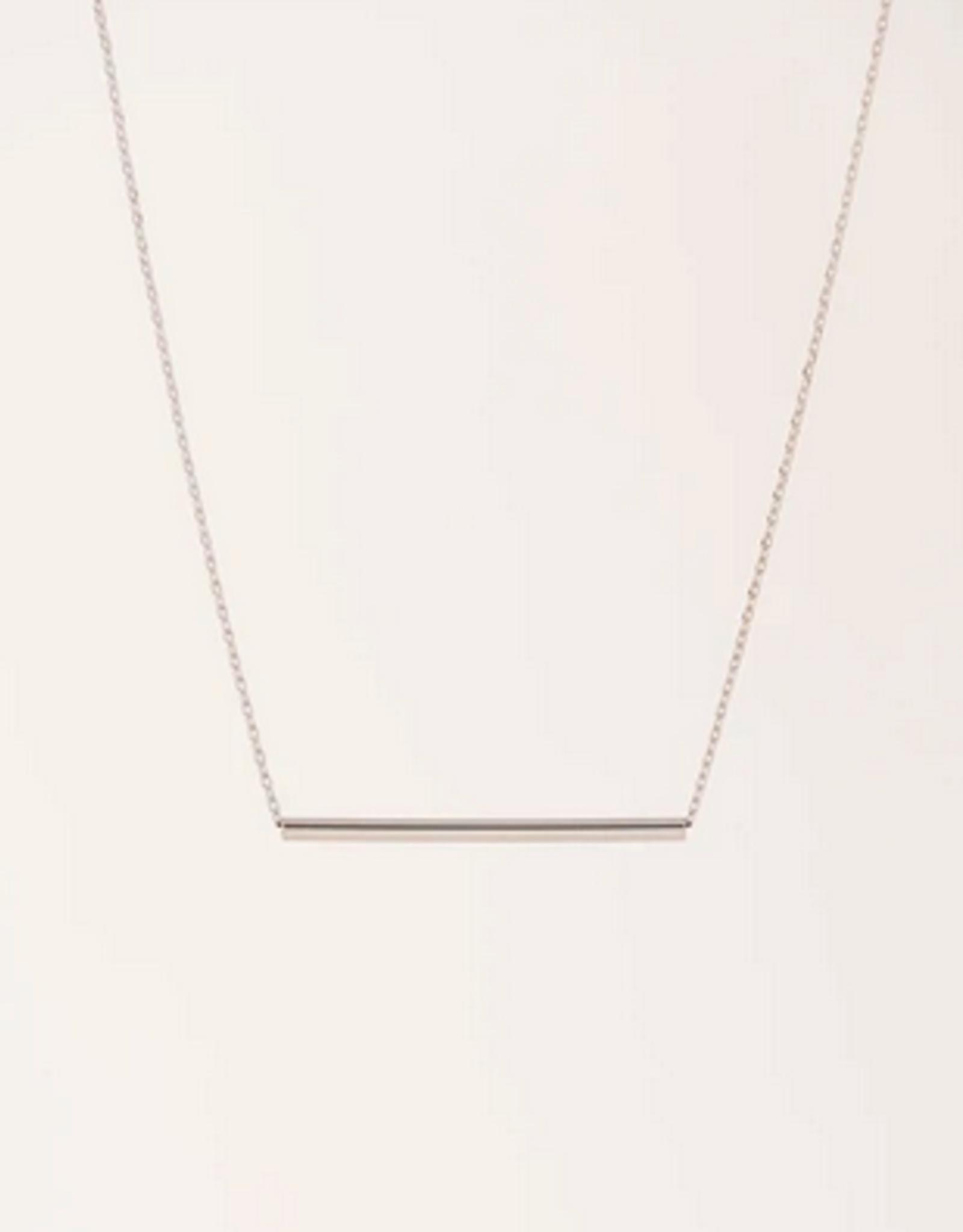 Serra Pipe Neckace - Silver