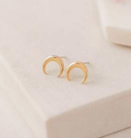 Toro Horn Stud Earrings - Gold