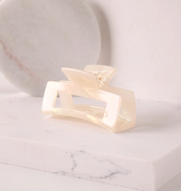 """Reese Large Claw Clip - Creme 3"""""""
