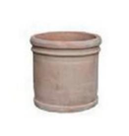 "Large Terracotta Cylinder Pot D14.5"" H14.5"""