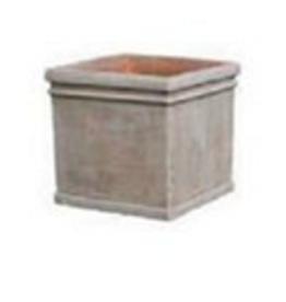 """Medium Terracotta Cube Pot L11.8"""""""