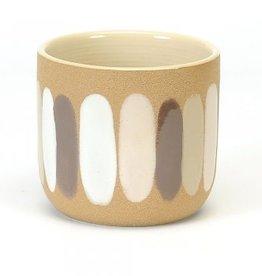 "Ceramic Pot with Brush Strokes D6"""