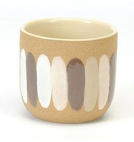 "Ceramic Pot with Brush Strokes D4"""