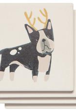 Yule Dogs Soak Up Coaster set of 4 assorted