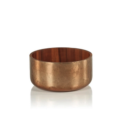 """Small Acacia Bowl with Bronze Foil D6.5"""" H3.25"""""""