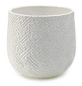 """White Kabasa Pot H6.75"""" D7"""""""