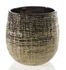 """Gold Hazel Pot H7.5"""" D7.5"""""""
