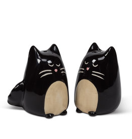 Black Simple Cat Salt & Pepper