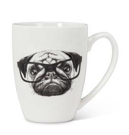 "Pen & Ink Pug Mug H4"""