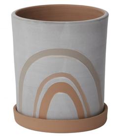 """Medium Symbol Pot with Saucer D6.5"""" H7.5"""""""