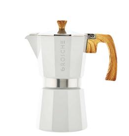 White Milano Stovetop Espresso Coffee Maker 6 cup
