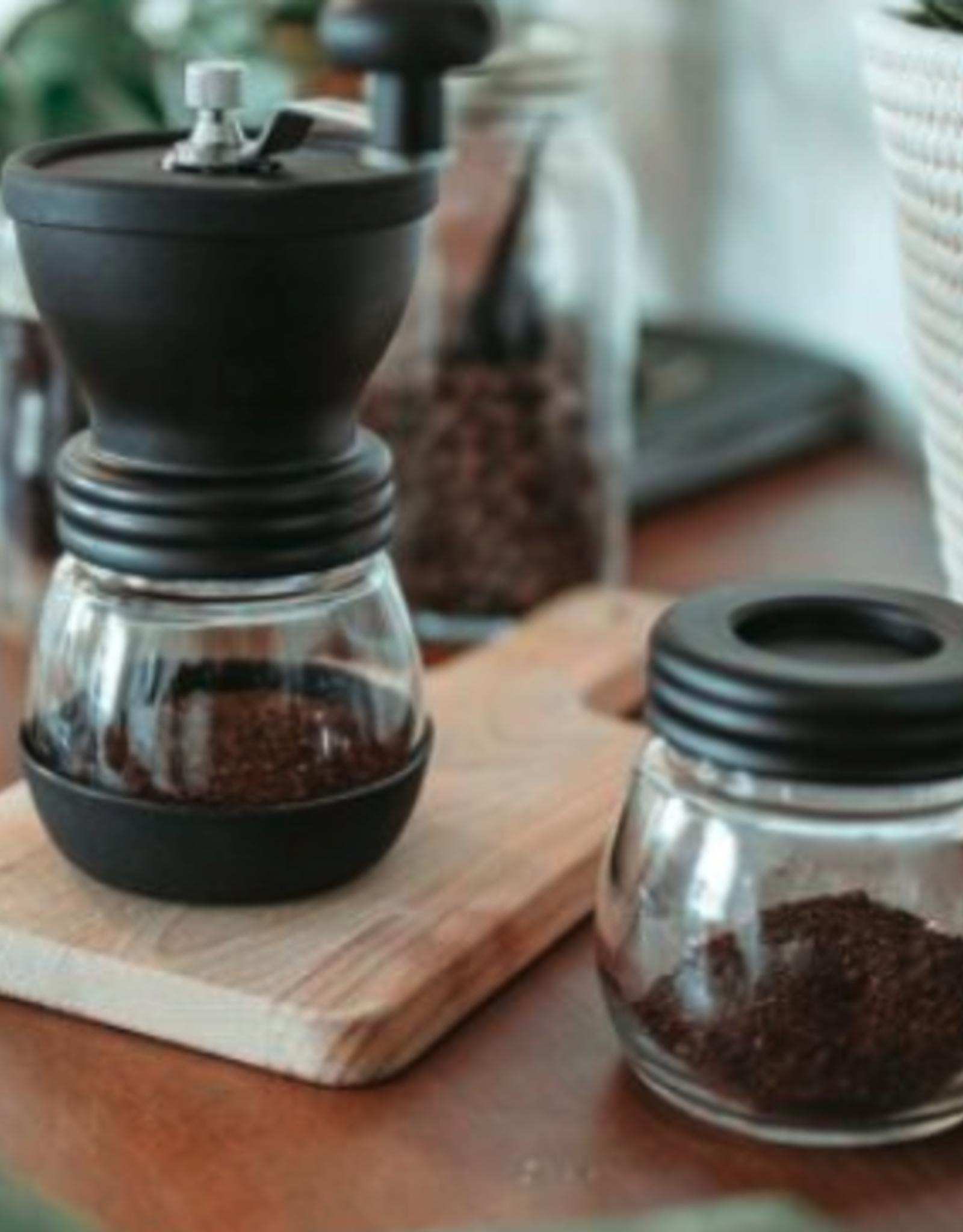 Black Bremen Manual Coffee Grinder with Storage Jar
