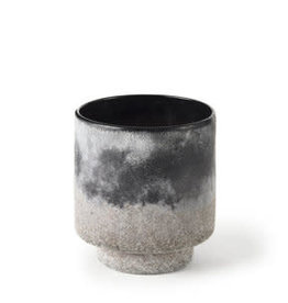 """Small Squally Ombre Textured Vase Black/Brown D6"""" H6.4"""""""