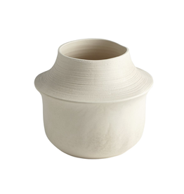 """Low Fladis Vase Matte Cream Marble H8"""""""