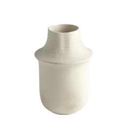 """Short Fladis Vase Matte Cream Marble H10.25"""""""