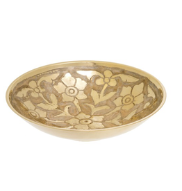 Small Primrose Brass Bowl