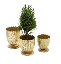 Small Gold Floralis Mini Urn