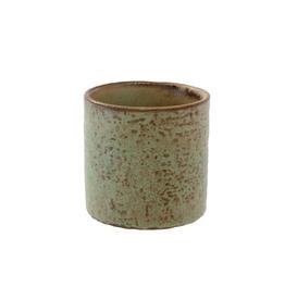 Small Apricot Stoneware Pot