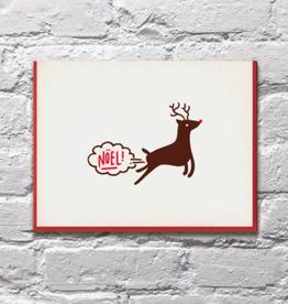 Noel Farting Reindeer Card