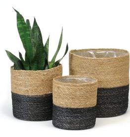 Medium Black and Natural Basket
