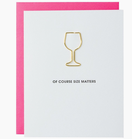 Of Course Size Matters Paper Clip Card