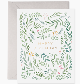 Pretty Leaves Birthday Card