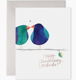 Lovebirds Anniversary Card