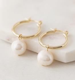Andie Pearl Hoop Earrings - Gold