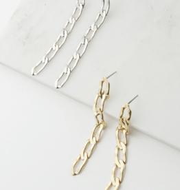 Chain Reaction Earrings - Silver