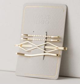 Davina Bobby Pins 4 pack - Gold
