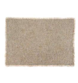 Grey Selena Linen Placemat