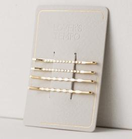 Mali Bobby Pins 4 pack - Gold