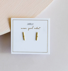 Minimalist Bar Earrings - Gold