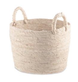 "Medium Natural Maiz Basket with Handles 12"""